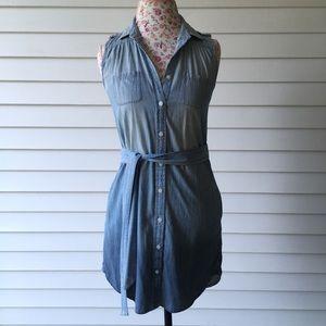 American Eagle Ombré Denim Dress With Pockets